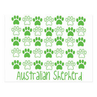 Paw by Paw Australian Shepherd Postcard