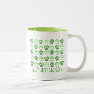 Paw by Paw Australian Shepherd Two-Tone Coffee Mug