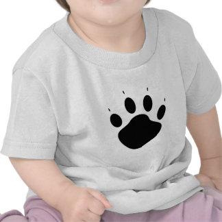 Paw casting paw print t shirts