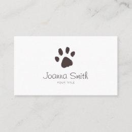 Dog walking business cards templates zazzle paw dog walking pet sitting vet appointment colourmoves