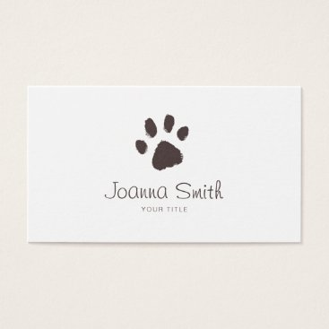 Professional Business Paw Dog Walking Pet Sitting Vet Appointment Business Card
