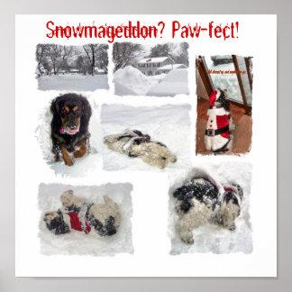 Paw-fect Snowmageddon Poster