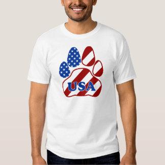 PAW FLAG USA.png T Shirts