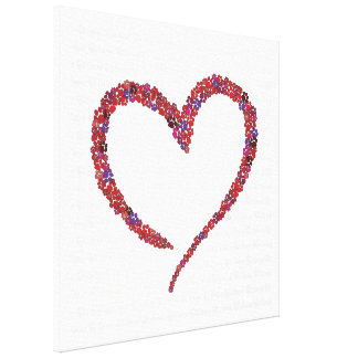 Paw Heart Canvas Print