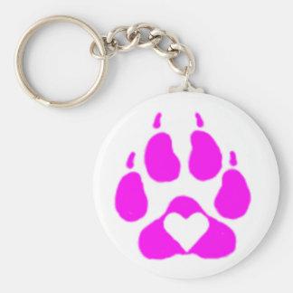 Paw Heart Keychain