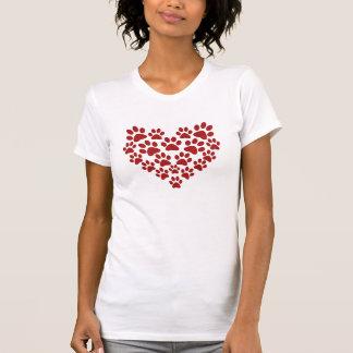 Paw heart tee shirts