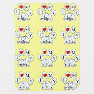 PAW - I heart my Pit Bull - Love Dogs Baby Blankets