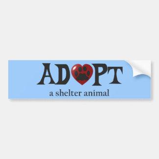 Paw in Red Heart Shelter Animal Bumper Sticker Car Bumper Sticker