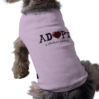 Paw in Red Heart Shelter Animal Dog Shirt