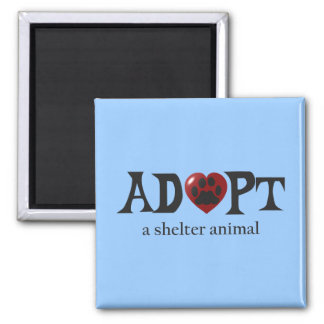 Paw in Red Heart Shelter Animal Magnet
