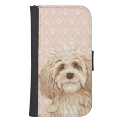 Samsung Galaxy S4 Wallet Case with Labradoodle Phone Cases design