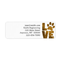 Paw Love Label