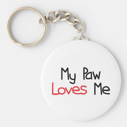 Paw Loves Me Basic Round Button Keychain