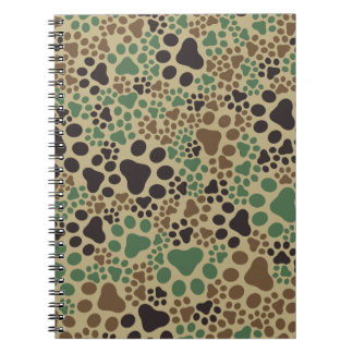 Paw pad camouflage notebook