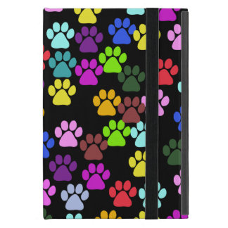 Paw Pattern, Dog Paws, Puppy Paws - Red Blue Green Cover For iPad Mini