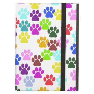 Paw Pattern, Dog Paws, Puppy Paws - Red Blue Green iPad Air Case