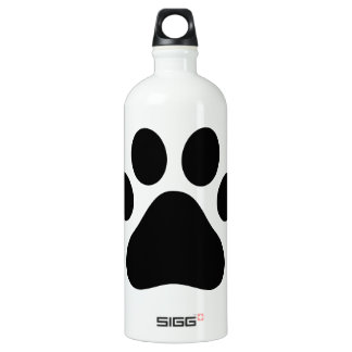 Paw print aluminum water bottle