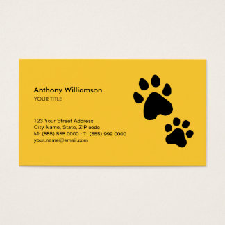 Paw Print Animal Care Pet Sitter business card