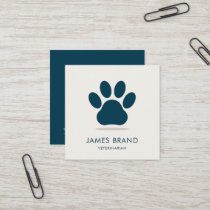 Paw Print Animal Care Square Business Card