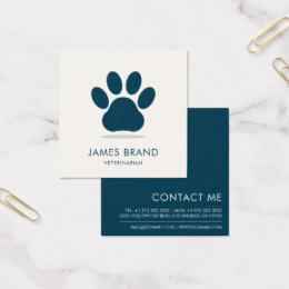 Animal print business cards templates zazzle paw print animal care square business card reheart Gallery