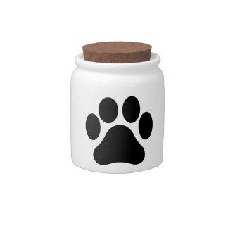Paw Print Animal Lover Candy Jar