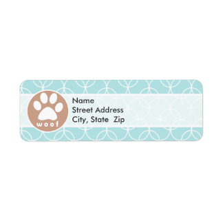 Paw Print; Baby Blue Circles Label