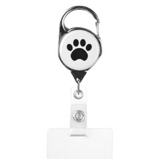 Paw Print Badge Holder Clip