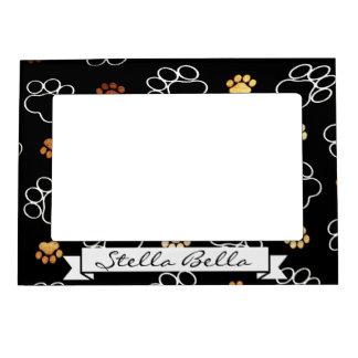 Paw Print Black Dog Cat Pet Picture Frame Name