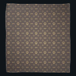 "Paw Print &amp; Bone Seamless Pattern Bandana<br><div class=""desc"">Elegant pattern to show the love of your pets.</div>"