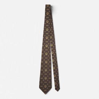 Paw Print & Bone Seamless Pattern Neck Tie
