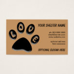 Paw Print Business Card, For Shelters, Rescue, Vet Business Card at Zazzle