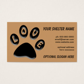 Paw Print business card, for shelters, rescue, vet Business Card