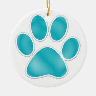 Paw Print Ceramic Ornament