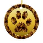 Paw Print Christmas Tree Ornament