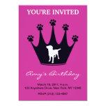 Paw Print Crown Invitation