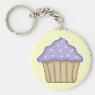 Paw Print Cupcake Keychain