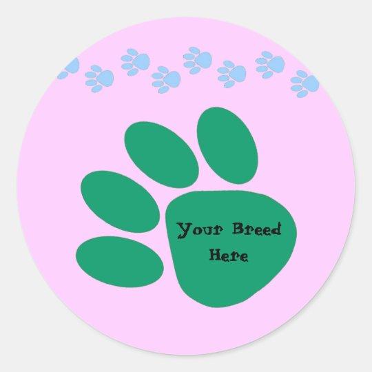 Paw Print Customizable Sticker