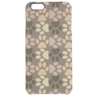 Paw Print Design Clear iPhone 6 Plus Case