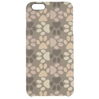 Paw Print Design Clear iPhone 6 Plus Case