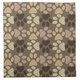 Paw Print Design Cloth Napkin