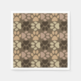 Paw Print Design Paper Napkin