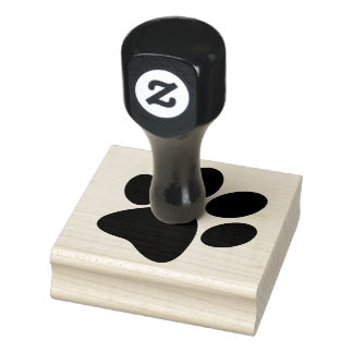 Paw Print Design Wooden Stamp
