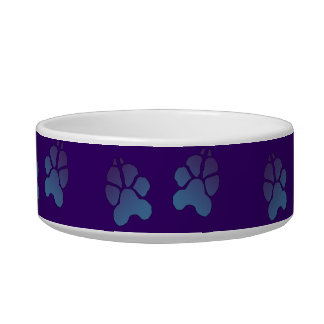 Paw Print Dog Bowl