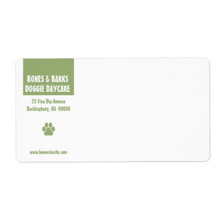 Paw Print Dog Care Shipping Label
