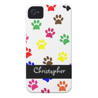 Paw print dog custom boys name iphone 4 barely iPhone 4 cover