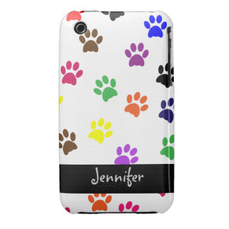 Paw print dog custom girls name iphone 3G barely iPhone 3 Cover