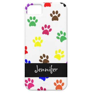 Paw print dog custom girls name iphone 5 barely iPhone SE/5/5s case