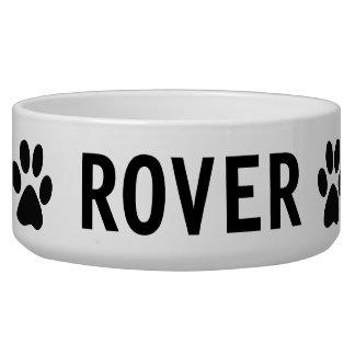 Paw Print Dog Food Bowl