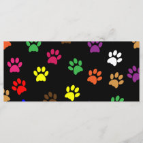 Paw print dog pet colorful fun bookmark
