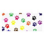 Paw print dog pet colorful fun bookmark rack cards